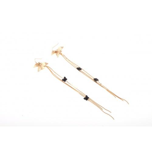 Orchid Bfly, earrings