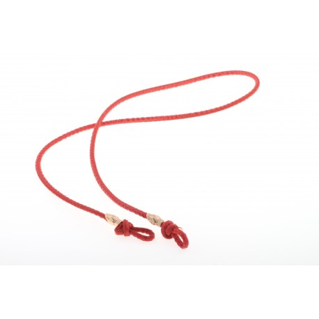 <p><span>Want to stroll stylish during summer without fear of losing your sunglasses? These sunglass cords are perfect to match every outfit! A very practical cord for any type of glasses. A leather cord in coral-red with two snakes in 18K gold plated. The cord has a length of 88 cm and is suitable for everyone.</span></p> <p><span>More colors for choice. Please ask!</span></p>
