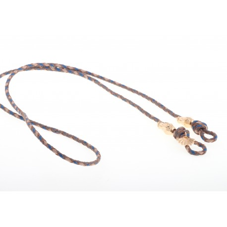 <p> </p> <p><span>Want to stroll stylish during summer without fear of losing your sunglasses? These sunglass cords are perfect to match every outfit! A very practical cord for any type of glasses. A braided leather cord with two crocodiles in 18K gold plated. The cord has a length of 88 cm and is suitable for everyone.</span></p> <p><span>More colors for choice. Please ask!</span></p>