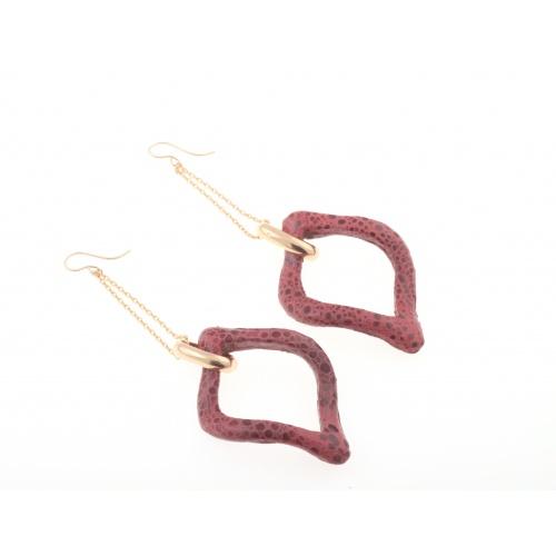 Verona red, earrings