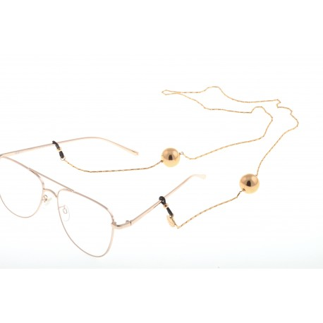 <p><span>Jewel chain for any type of glasses with two ball, all 18k gold plated.</span></p> <p>Length: 80cm</p>
