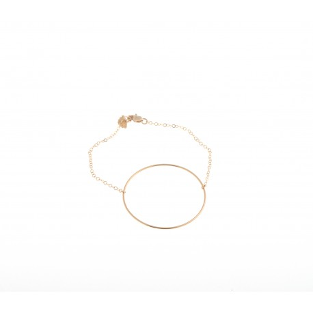 <p></p> <p>Bracelet with a fine Gold Filled chain (17cm approx.) And Gold Filled ring (40mm diameter).</p>