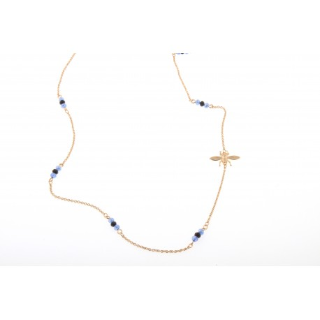 Azul Noche bee, collar