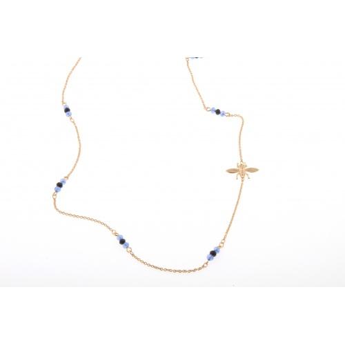 Azul noche bee, necklace