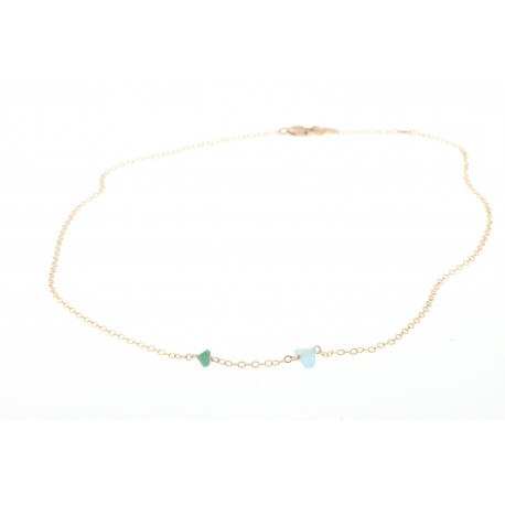 <p><span>Gold Filled chain necklace (40cm approx) adorned with irregular colored crystals in two sizes. (more colors available).</span></p> <p><span> </span></p> <p><span>MOTHER'S DAY SPECIAL: CHOOSE CRYSTAL COLOR FOR MOM AND ADD AS MANY MINI CRYSTALS AS CHILDREN YOU WANT TO REPRESENT. PICK YOUR COLORS!</span></p> <p> </p>
