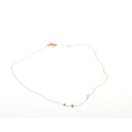 <p>Gold Filled chain necklace (40cm approx) adorned with irregular colored crystals in two sizes. (more colors available).</p> <p><span> </span></p> <p><span>MOTHER'S DAY SPECIAL: CHOOSE CRYSTAL COLOR FOR MOM AND ADD AS MANY MINI CRYSTALS AS CHILDREN YOU WANT TO REPRESENT. PICK YOUR COLORS!</span></p>