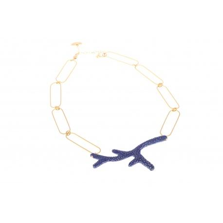 Branch Mada necklace, blue