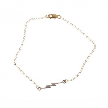 <p>Gold Filled chain bracelet (17cm aprox) with sterling silver ray charm.</p>