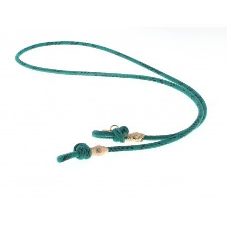 <p><span>Want to stroll stylish during summer without fear of losing your sunglasses? These sunglass cords are perfect to match every outfit! A very practical cord for any type of glasses. A snake leather cord in green, with two snakes 18K gold plated. The cord has a length of 88 cm and is suitable for everyone.</span></p> <p><span>More colors for choice. Please ask!</span></p>