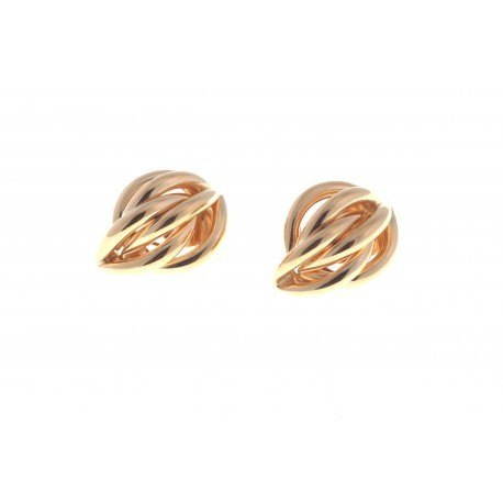 <p>Tubular figure clip earrings, 18k gold plated</p>